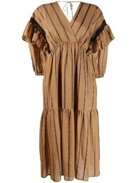 Tela Nicolette striped dress - Neutrals