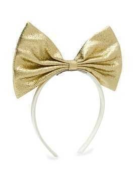 Hucklebones London Giant Bow hairband - GOLD