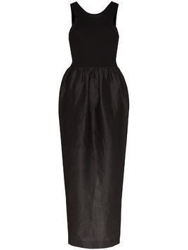 Toteme Nonza dual-textured maxi dress - Black