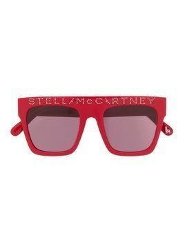Stella McCartney Kids square-frame logo sunglasses - Red