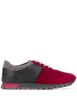 Kiton panelled low-top sneakers - Red