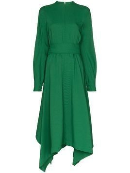 Hyke Tropical flared dress - Green