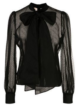 Brock Collection sheer tie-fastening blouse - Black
