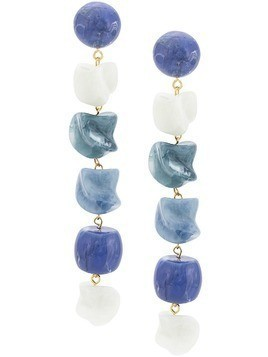 Cult Gaia stone earrings - Blue