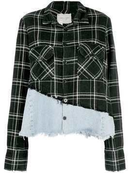 Greg Lauren Christian Studio plaid shirt - Black