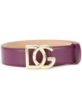 Dolce & Gabbana DG buckle belt - PURPLE