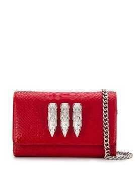 Philipp Plein skull clutch bag - Red