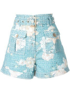 We Are Kindred Lulu printed broderie anglaise shorts - Blue
