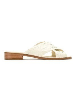 Sarah Chofakian leather flat sandals - White