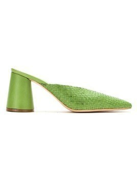 Sarah Chofakian leather mules - Green