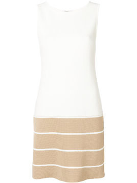 Charlott striped hem dress - White