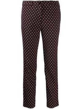 Etro all-over print trousers - Black