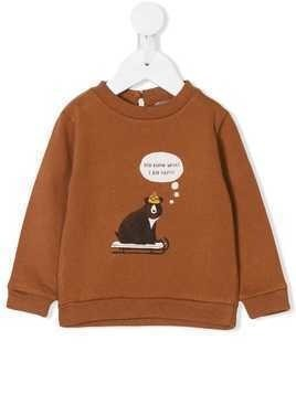 Emile Et Ida Bear print sweater - Brown