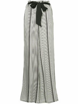 Asceno striped wide-leg trousers - Black