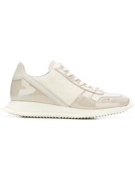 Rick Owens lace-up runner sneakers - White