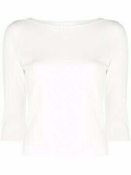 Roberto Collina three-quarter sleeve jumper - White