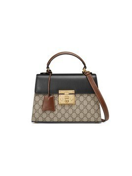 Gucci Padlock GG Supreme top handle bag - Nude&Neutrals