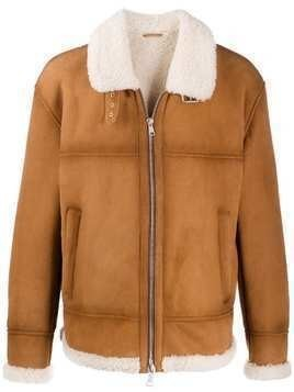 Drome zip-up aviator-style jacket - Brown