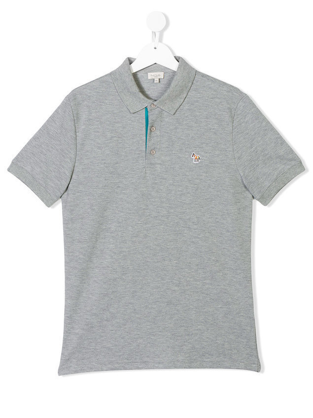 Paul Smith Junior horse embroidered polo shirt - Grey