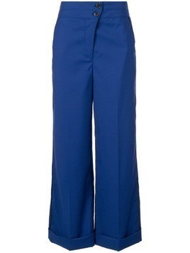 Nehera high waisted wide leg trousers - Blue