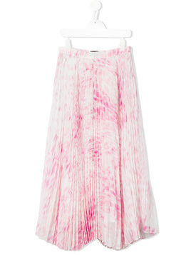 Roberto Cavalli Kids printed pleated skirt - Pink & Purple