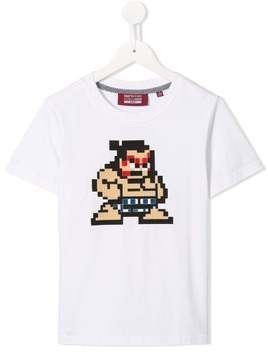 Mostly Heard Rarely Seen 8-Bit Tiny Sumo T-shirt - White