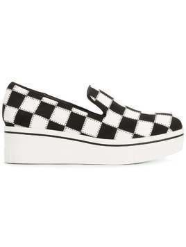 Stella McCartney checkerboard platform sneakers - Black