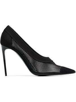 Stella McCartney 105 Fishnet Pointed Pumps - Black