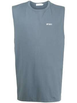 Off Duty chest logo tank top - Blue
