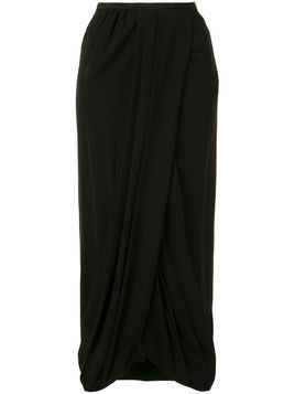 Giambattista Valli silk gathered skirt - Black