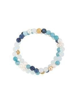 Nialaya Jewelry beaded wrap bracelet - Blue