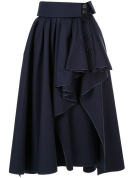 Dice Kayek ruffled asymmetric skirt - Blue