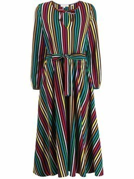 Chinti & Parker belted striped long dress - Black