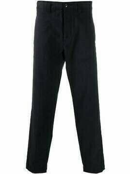 Haikure straight corduroy trousers - Blue