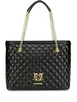 Love Moschino quilted effect tote bag - Black