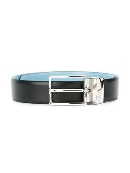 Emporio Armani Kids square buckle belt - Blue
