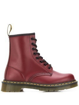 Dr. Martens leather ankle boots - Red