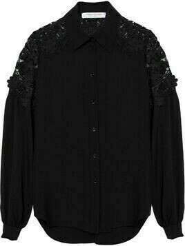 Carolina Herrera lace-panelled shirt - Black