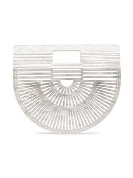 Cult Gaia White Ark Mini Acrylic Tote Bag