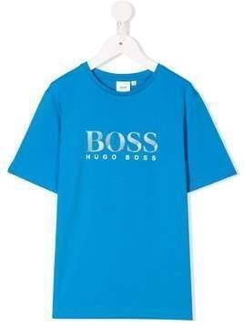 Boss Kids printed logo T-shirt - Blue