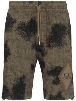 CP Company patterned elasticated waist shorts - Green