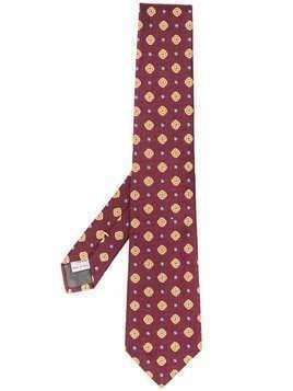 Canali patterned pointed-tip tie - Red