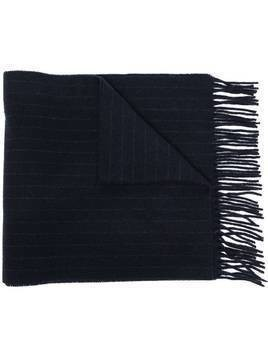 Polo Ralph Lauren stripe knit bear embroidered scarf - Blue