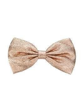 Hucklebones London metallic bow hairclip - PINK