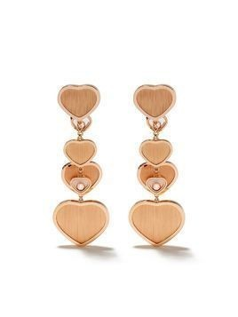 Chopard x 007 18kt rose gold Happy Hearts - Golden Hearts diamond drop earrings