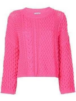 Jason Wu long sleeve knitted top - PINK