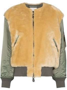 Hyke faux shearling jacket - Green