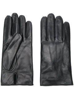 Emporio Armani - Embossed Logo Gloves - Men - Lamb Skin/Wool - S