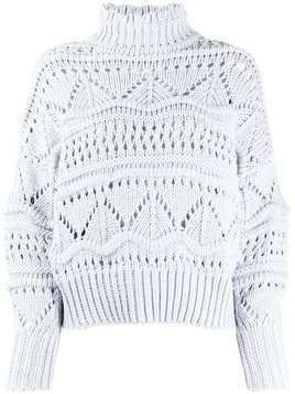 Isabel Marant Étoile embroidered roll-neck jumper - Blue
