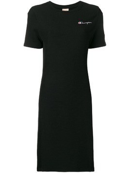 Champion logo embroidered T-shirt dress - Black